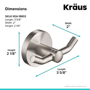 Kraus Indy Bathroom Faucet and Accessory Set - 4 Pieces - Stainless Steel