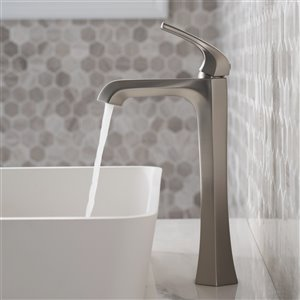 Kraus Arlo Single Handle Vessel Faucet with Drain - 2 Pack - Stainless Steel