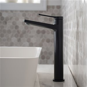 Kraus Indy Bathroom Faucet and Accessory Set - 4 Pieces - Matte Black