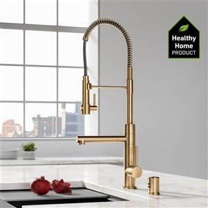 Kraus Dishwasher Universal Air Gap - Brushed Brass