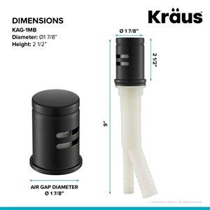 Kraus Dishwasher Air Gap - Matte Black