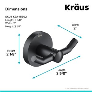 Kraus Indy Bathroom Faucet and Accessory Set - 4 Pieces - Matte Black
