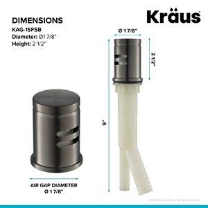 Kraus Spot-Free Dishwasher Air Gap - Black Stainless