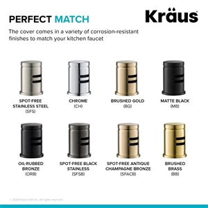 Kraus Dishwasher Air Gap - Oil Rubbed Bronze