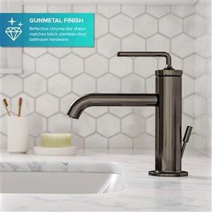 Kraus Ramus Single Handle Bathroom Sink Faucet with Lift Rod Drain - Gunmetal