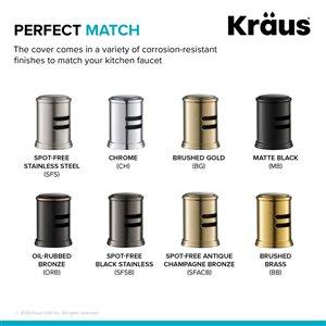 Kraus Spot-Free Universal Dishwasher Air Gap - Black Stainless