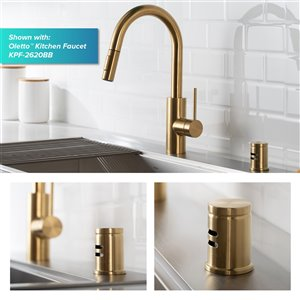 Kraus Dishwasher Air Gap - Brushed Brass