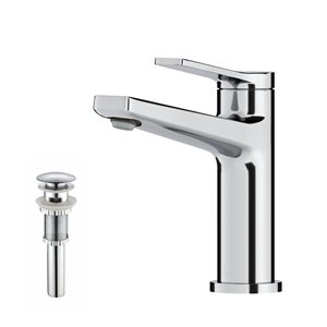 Kraus Indy Single Handle Bathroom Faucet with Pop-Up Drain - Chrome