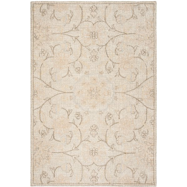 Safavieh Abstract Rectangular Area Rug Handcrafted 6 Ft X 9 Ft Light Grey Ivory Lowe S Canada