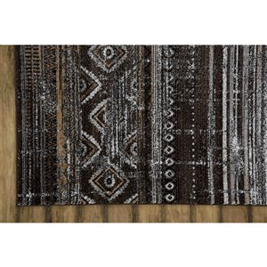 Collection Bourbon Street Mystic Area Rug - 5-ft x 8-ft - Brown