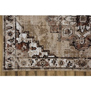 Collection Bourbon Street Albany Area Rug - 5-ft x 8-ft - Beige