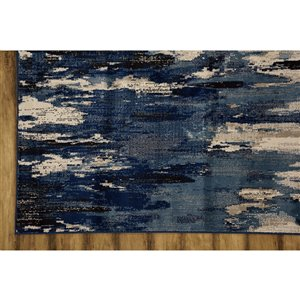 Collection Bourbon Street Bakersfield Area Rug - 8-ft x 10-ft - Blue