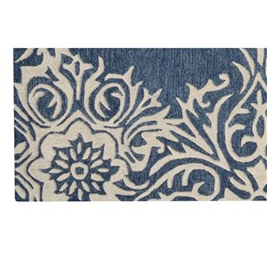 Collection Bourbon Street Augusta Area Rug - 5-ft x 8-ft - Blue