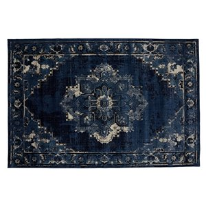 Collection Bourbon Street Albany Area Rug - 5-ft x 8-ft - Blue