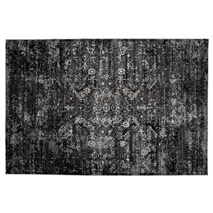 Collection Bourbon Street Wesminister Area Rug - 5-ft x 8-ft - Black
