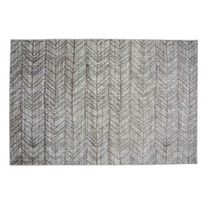 Collection Bourbon Street Birmingham Area Rug - 5-ft x 8-ft - Ivory