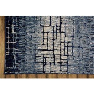 Collection Bourbon Street Fairbanks Area Rug - 8-ft x 10-ft - Blue