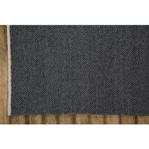 Collection Bourbon Street Louisville Area Rug - 5-ft x 8-ft - Charcoal