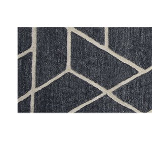 Collection Bourbon Street Eastport Area Rug - 5-ft x 8-ft - Charcoal