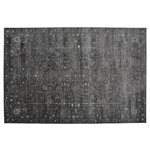 Collection Bourbon Street Glenwood Area Rug - 5-ft x 8-ft - Grey
