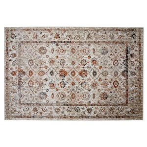 Collection Bourbon Street Loveland Area Rug - 8-ft x 10-ft - Ivory