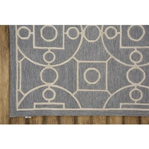 Collection Bourbon Street Annapolis Area Rug - 5-ft x 8-ft - Grey