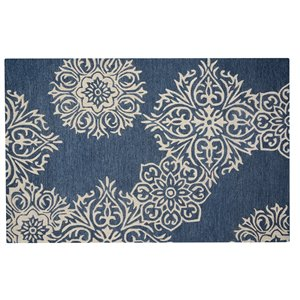 Collection Bourbon Street Augusta Area Rug - 8-ft x 10-ft - Blue