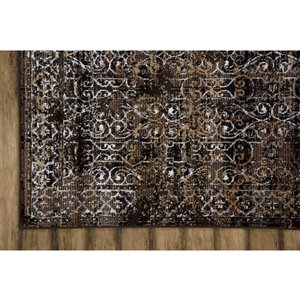 Collection Bourbon Street Riverside Area Rug - 8-ft x 10-ft - Brown