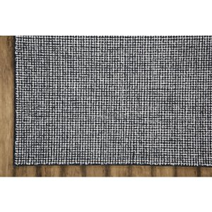 Collection Bourbon Street Stillwater Area Rug - 5-ft x 8-ft - Charcoal