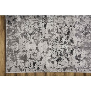 Collection Bourbon Street Stamford Area Rug - 5-ft x 8-ft - Light Grey
