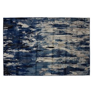 Collection Bourbon Street Bakersfield Area Rug - 5-ft x 8-ft - Blue