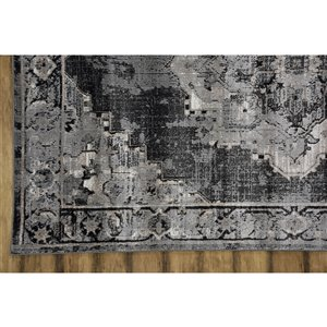Collection Bourbon Street Albany Area Rug - 8-ft x 10-ft - Grey