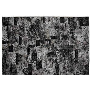 Collection Bourbon Street Lakeland Area Rug - 5-ft x 8-ft - Grey