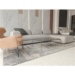 Collection Bourbon Street Northfield Area Rug - 5-ft x 8-ft - Light Grey