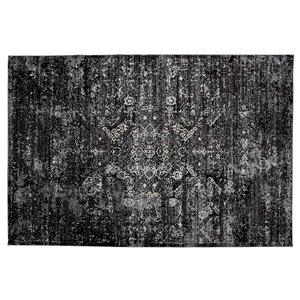 Collection Bourbon Street Wesminister Area Rug - 8-ft x 10-ft - Black