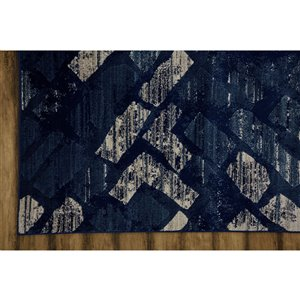 Collection Bourbon Street Wilmington Area Rug - 5-ft x 8-ft - Blue