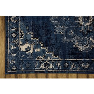 Collection Bourbon Street Albany Area Rug - 8-ft x 10-ft - Blue