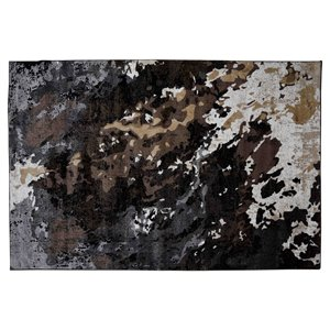 Collection Bourbon Street Simsbury Area Rug - 5-ft x 8-ft - Black