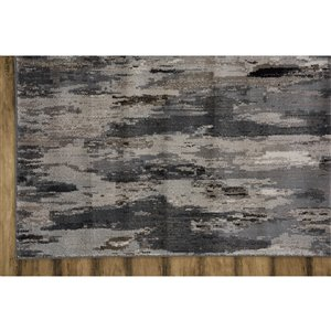 Collection Bourbon Street Bakersfield Area Rug - 5-ft x 8-ft - Grey