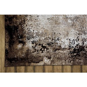 Collection Bourbon Street Lakeview Area Rug - 5-ft x 8-ft - Brown
