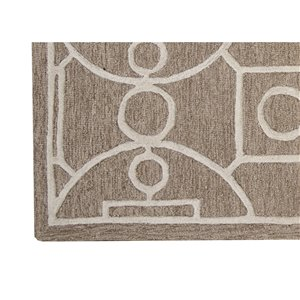 Collection Bourbon Street Annapolis Area Rug - 5-ft x 8-ft - Brown
