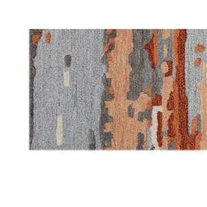 Collection Bourbon Street Northfield Area Rug - 5-ft x 8-ft - Orange/Grey