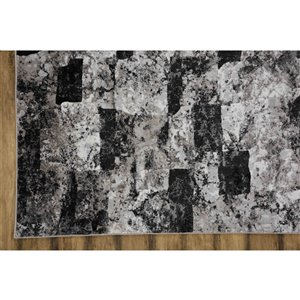 Collection Bourbon Street Lakeland Area Rug - 8-ft x 10-ft - Grey
