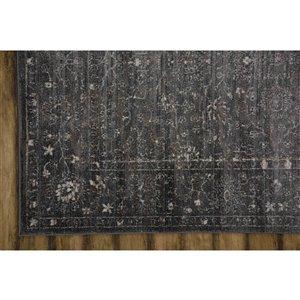 Collection Bourbon Street Glenwood Area Rug - 8-ft x 10-ft - Grey