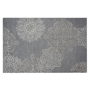 Collection Bourbon Street Augusta Area Rug - 5-ft x 8-ft - Grey
