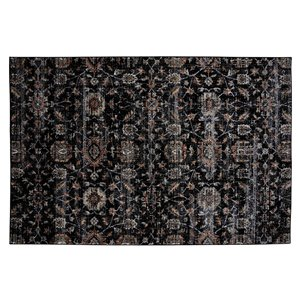 Collection Bourbon Street Guilford Area Rug - 5-ft x 8-ft - Black