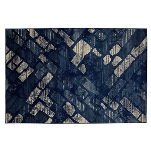 Collection Bourbon Street Wilmington Area Rug - 8-ft x 10-ft - Blue