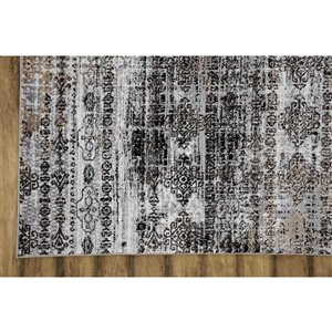 Collection Bourbon Street Pheonix Area Rug - 5-ft x 8-ft - Light Grey