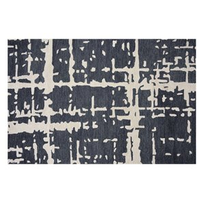 Collection Bourbon Street Fairhaven Area Rug - 5-ft x 8-ft - Charcoal