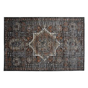 Collection Bourbon Street Bridgeport Area Rug - 8-ft x 10-ft - Grey
